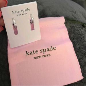 Kate Spade earrings (clear/silver)